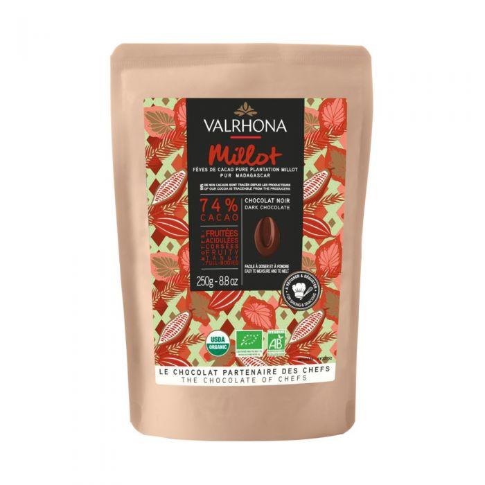 chocolate negro millot 74% por valrhona