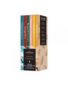 caja degustación 6 barras de chocolate por valrhona