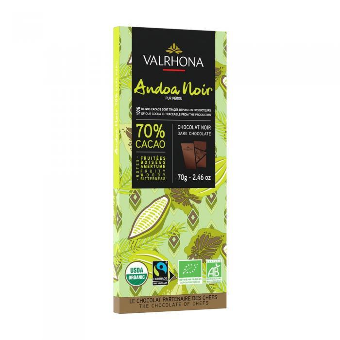 tableta andoa noire 70% por valrhona