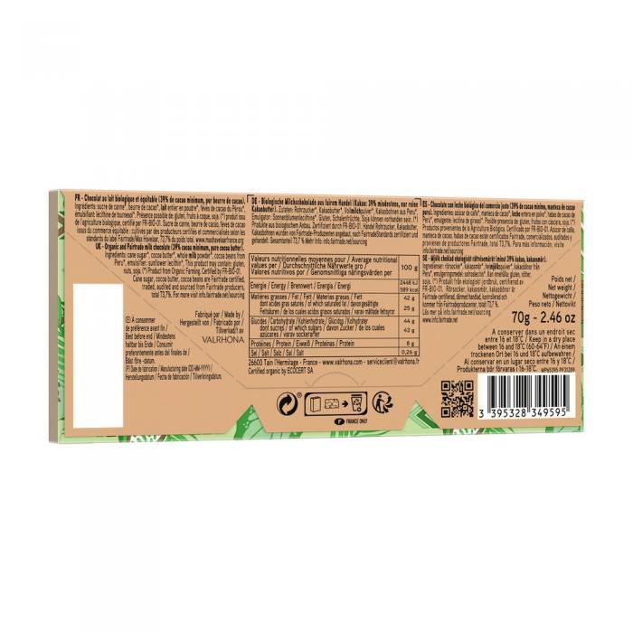 tableta andoa lactee 39% por valrhona