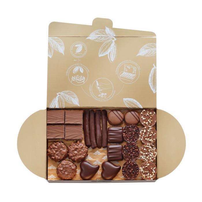 ballotin 74 bombones de chocolate - 700g por valrhona