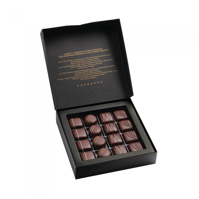 bombones finos chocolate negro - 160g por valrhona