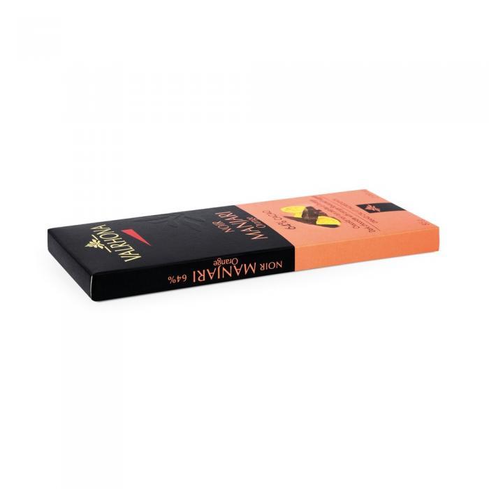 tableta manjari 64% - pepitas de naranja por valrhona