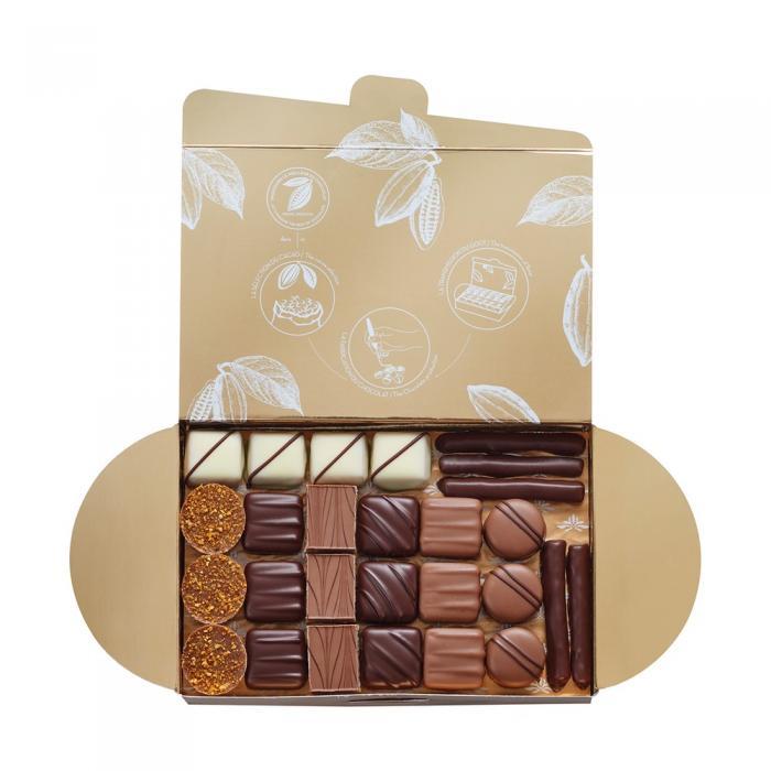 ballotin 50 bombones de chocolate - 465g por valrhona