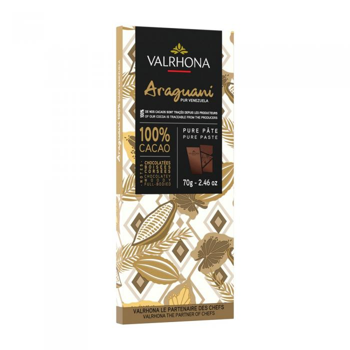 tableta araguani 100% por valrhona