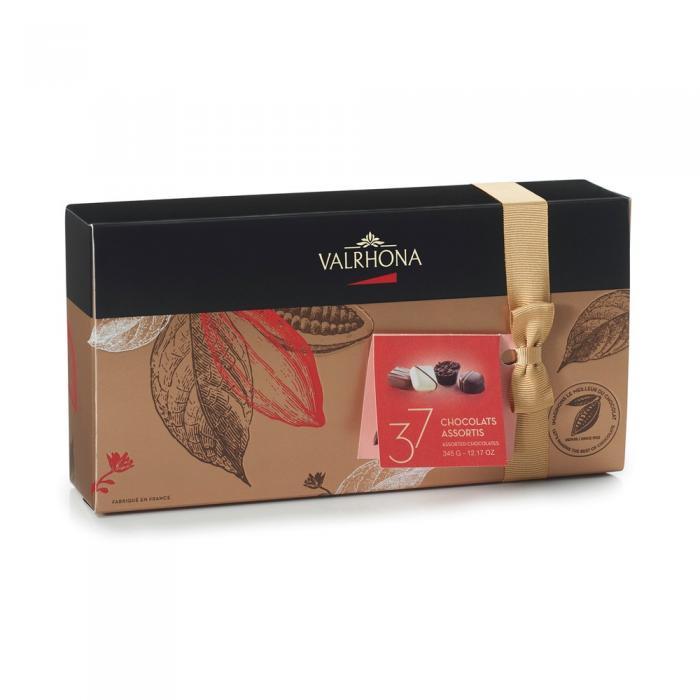 ballotin 37 bombones de chocolate - 345g por valrhona
